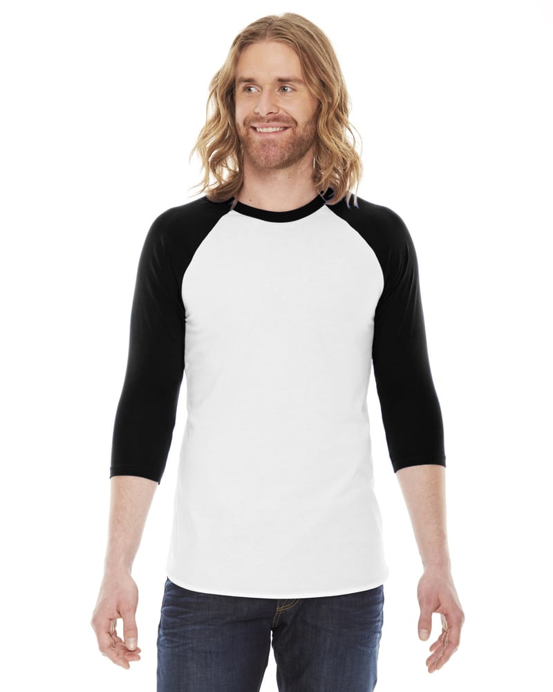 American Apparel BB453W - Unisex Poly-Cotton 3/4-Sleeve Raglan T-Shirt