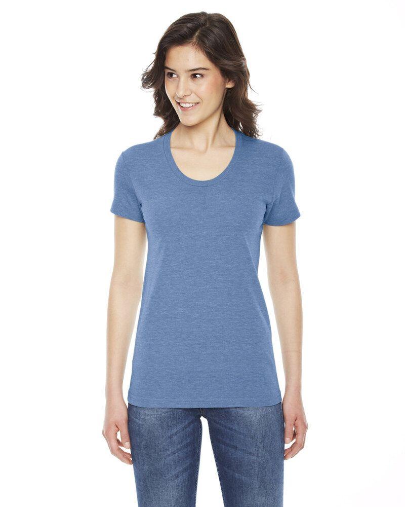 American Apparel TR301W - T-shirt de course à manches courtes en Triblend pour femme
