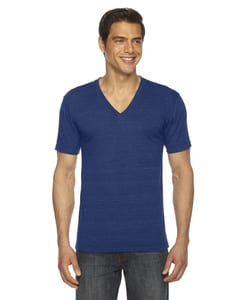 American Apparel TR461W - T-Shirt Col V unisexe Triblend à manches courtes