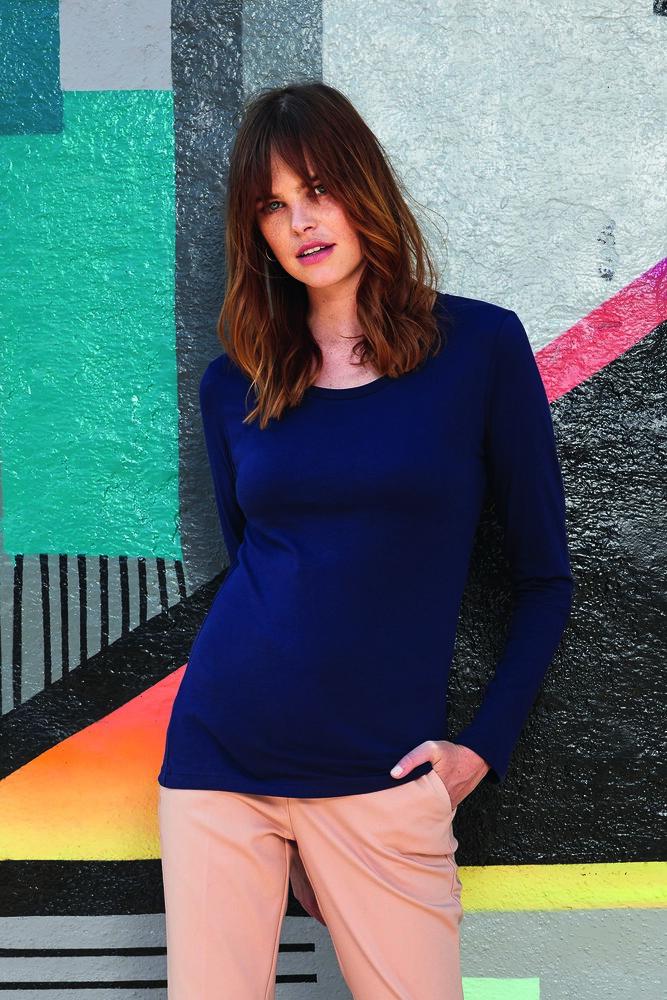 B&C BC071 - Tee-Shirt Manches Longues Femme 100% Coton Bio