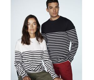 Front Row FR134 - Long sleeved Breton Striped T