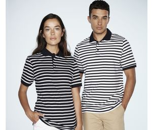 Front row FR230 - Gestreept Jersey polo-shirt