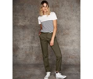 Front row FR622 - Dames Stretch Chino Broek
