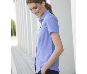 Henbury HY586 - Ladies gingham cofrex/pufy wicking s/s shirt