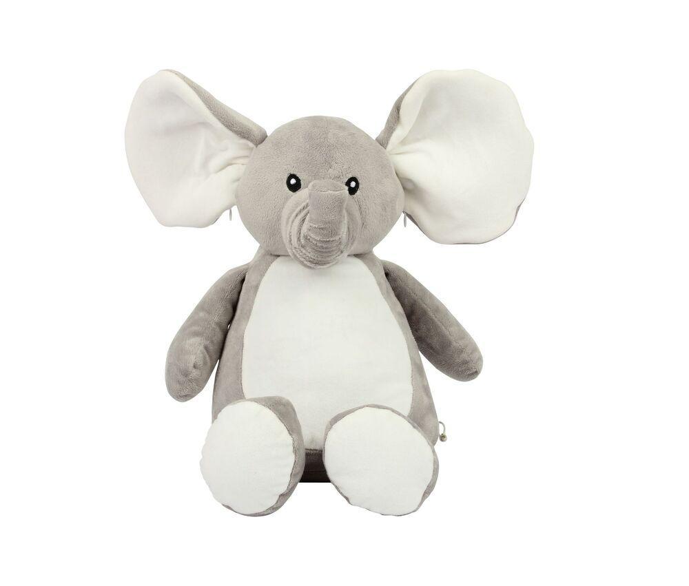 Mumbles MM558 - Éléphant en Peluche Bas Zippé