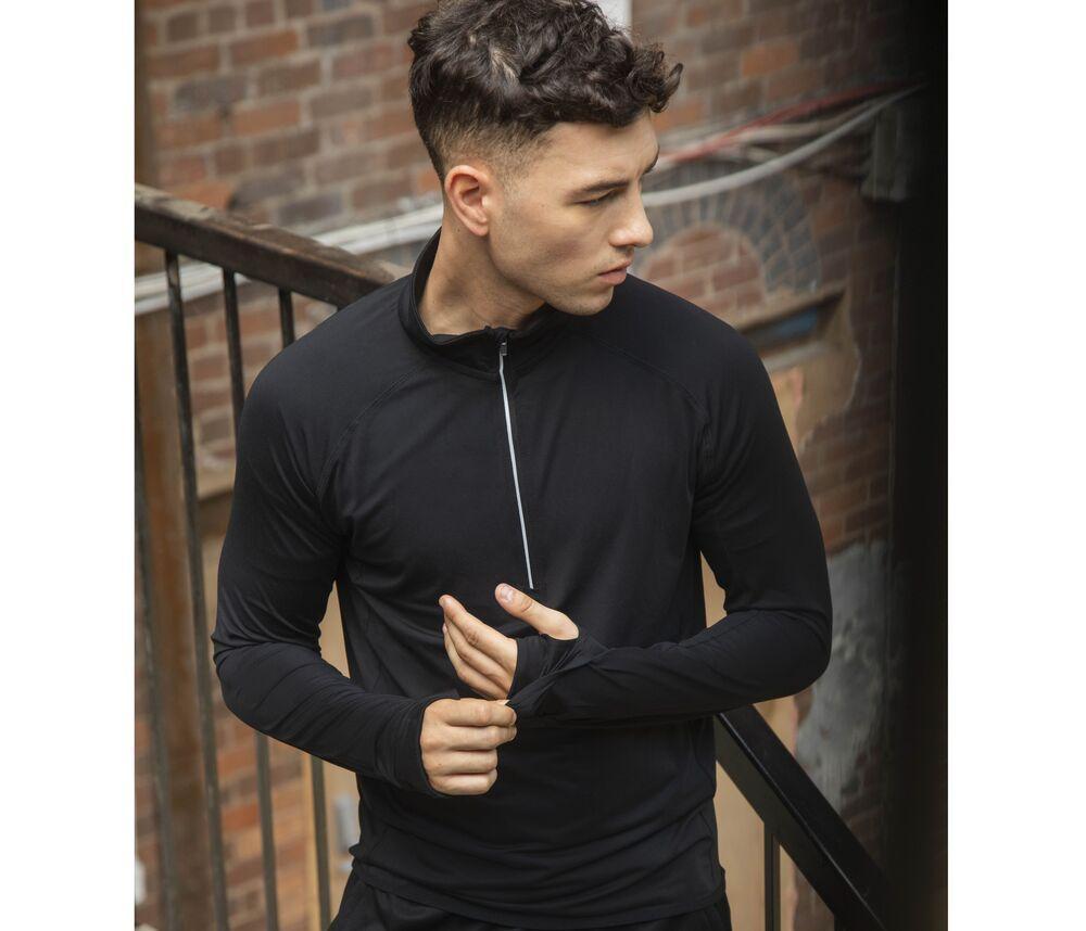 Tombo TL562 - Long sleeved 1/4 zip top