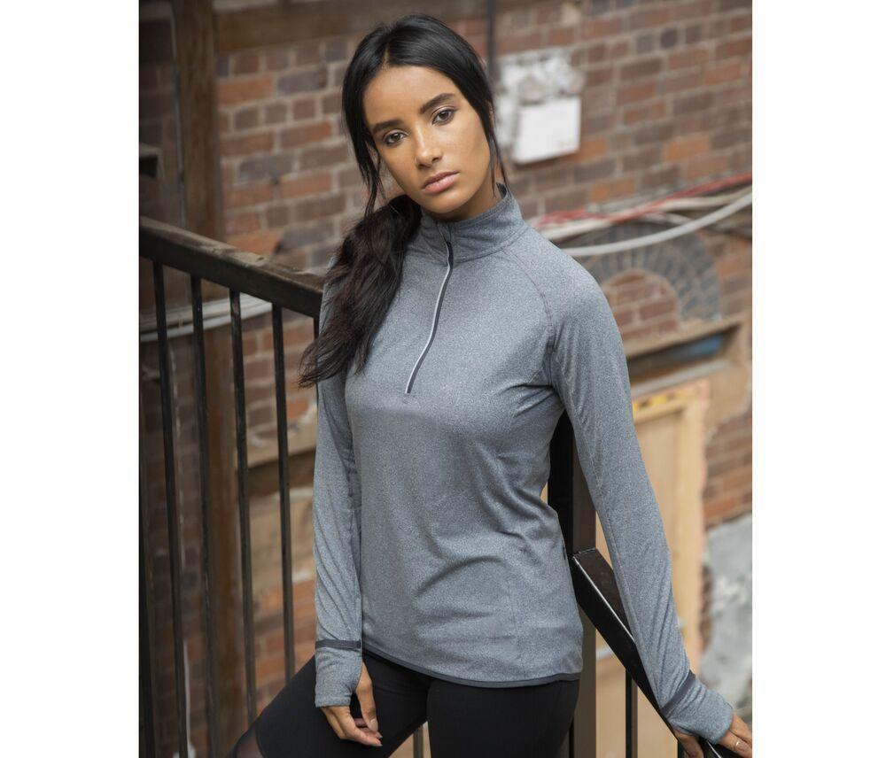 Tombo TL563 - Ladies' long sleeved 1/4 zip top