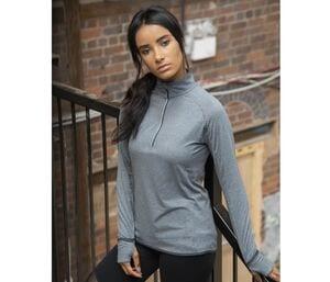 Tombo TL563 - Ladies long sleeved 1/4 zip top