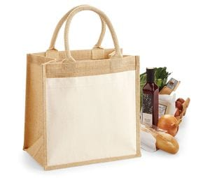 WestFord Mill WM426 - Cotton pucket jute midi tote