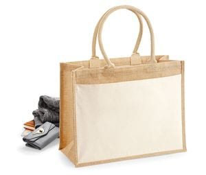 WestFord Mill WM427 - Cotton pucket jute shopper