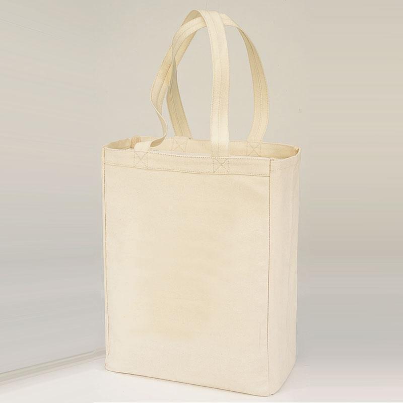 Q-Tees Q1000 - Canvas Gusset Shopping Tote Bag