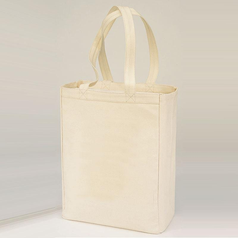 Q-Tees Q1000 - Canvas Gusset Shopping Tote Bag