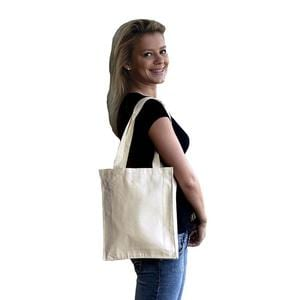 Q-Tees Q125200 - Canvas Book Bag with Gusset