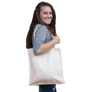 Q-Tees Q125300 - Canvas Shopper with Gusset