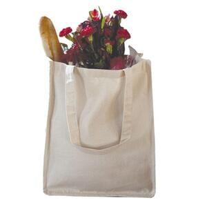 Q-Tees Q125400 - Canvas Jumbo Shopper with Gusset
