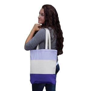 Q-Tees Q125900 - Canvas Tri-Color Professional Tote Bag