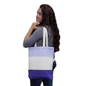 Q-Tees Q125900 - Canvas Tri-Color Professional Tote Bag