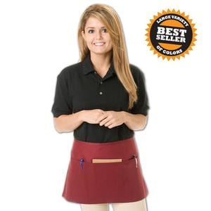 Q-Tees Q2115 - Waist Apron with 3 Compartment Pouch