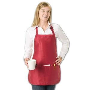 Q-Tees Q4250 - Medium Length Apron with 3 Compartment Pouch