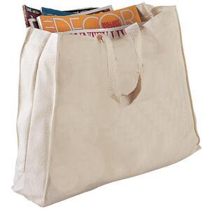 Q-Tees Q750 - Canvas Gusset Tote Bag