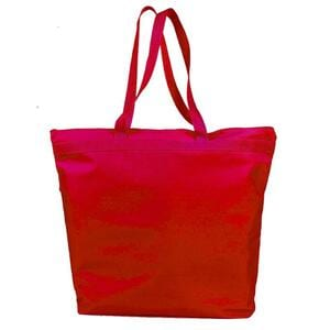 Q-Tees Q91221 - Deluxe Zipper Tote Bag