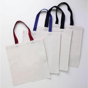 Q-Tees QTB6000 - Economical Tote Bag with Colored Handles