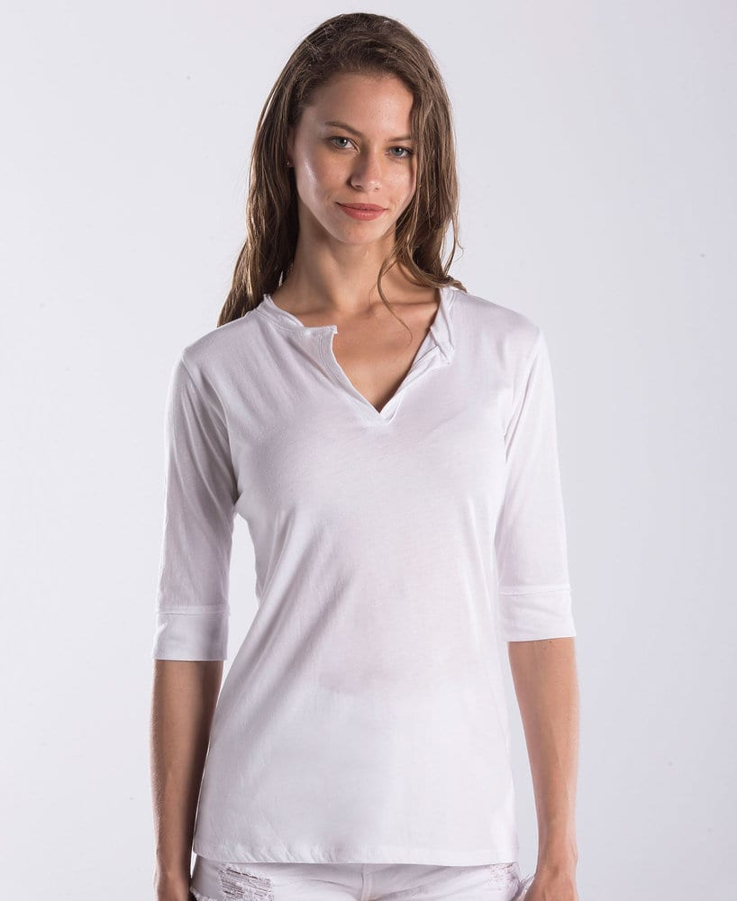 US Blanks US0205 - Ladies' Elbow Sleeve Footie Tee