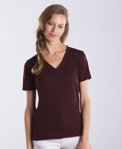 US Blanks US0228OD - Ladies Tri-Blend Overdyed V-Neck Tee