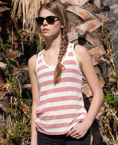 US Blanks US0525 - Ladies Striped SLub Racerback Tank