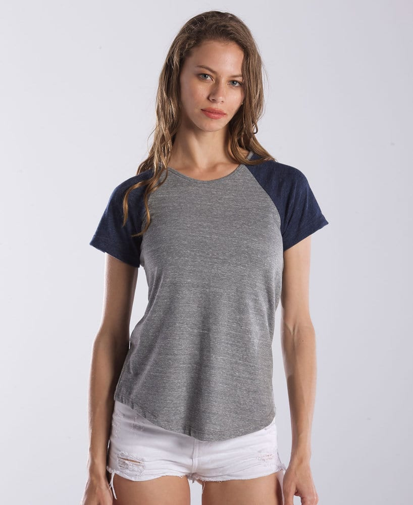 US Blanks US0618 - Ladies' Tri-Blend Shirttail Raglan Tee