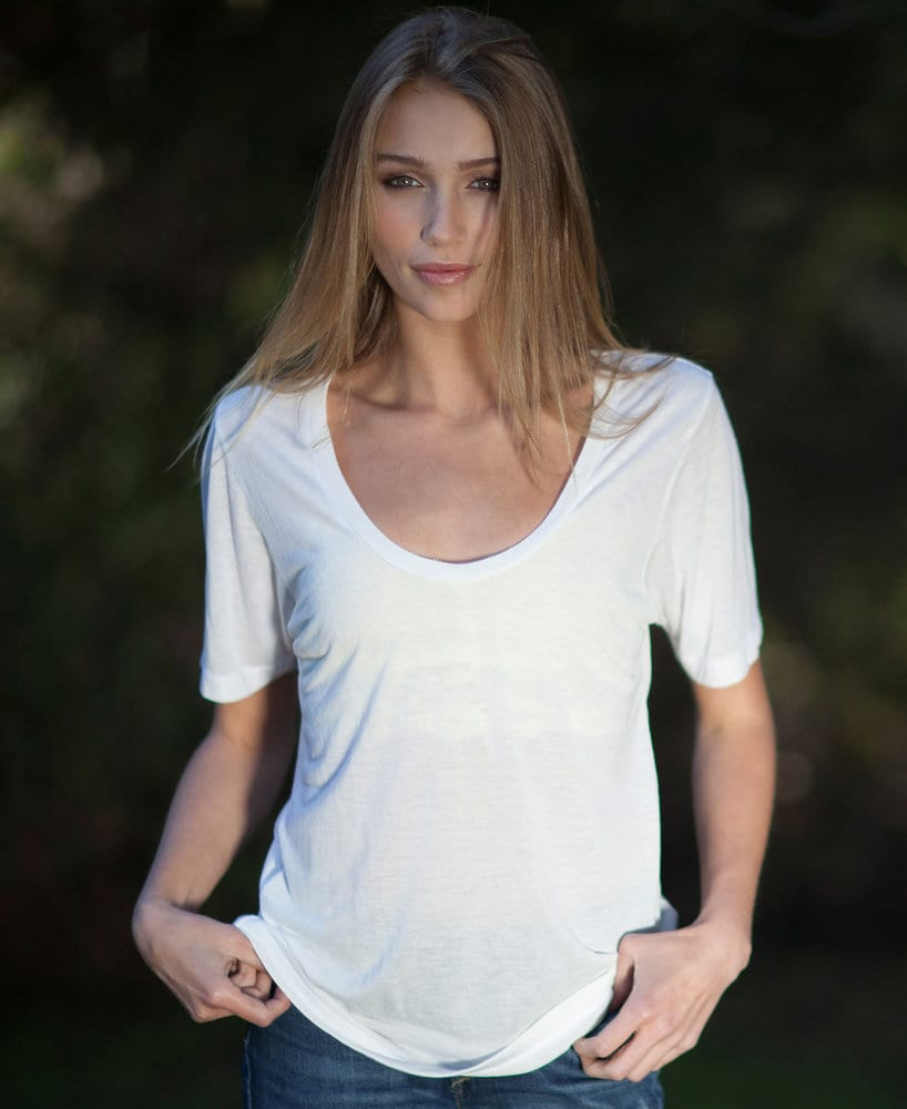 US Blanks US0902 - Ladies' Deep Scoop Neck Tee
