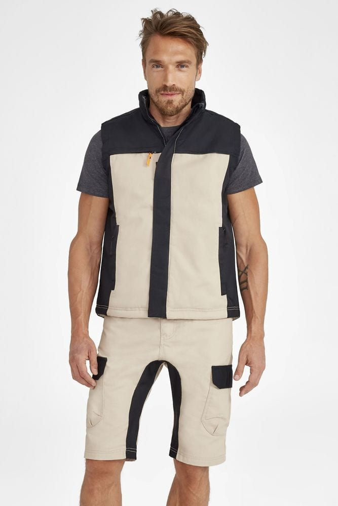 Sol's 01567 - Men's Two Colour Workwear Bodywarmer Mission Pro