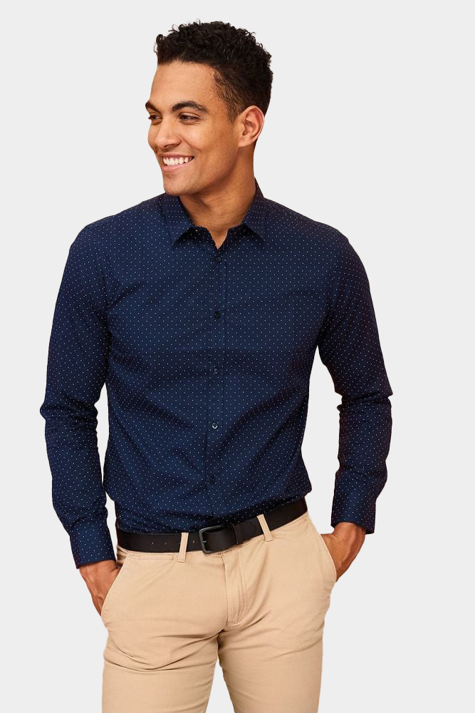 Sol's 01648 - Men's Polka dot Shirt Becker