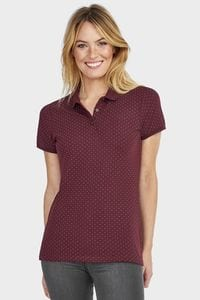 Sols 01707 - Womens Polka dot Polo Shirt Brandy