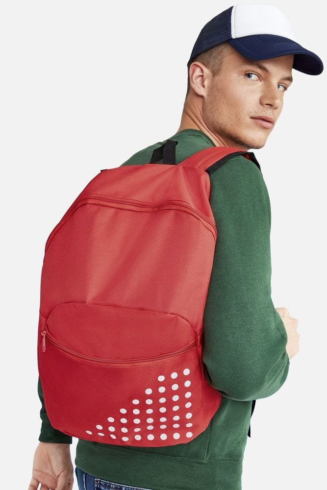 Sol's 01680 - Polyester Backpack With Reflective Detail Cosmo