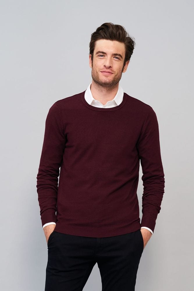Sol's 01712 - Men's Round Neck Sweater Ginger