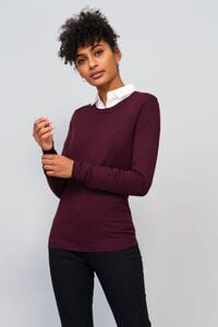 Sols 01713 - Womens Round Neck Sweater Ginger