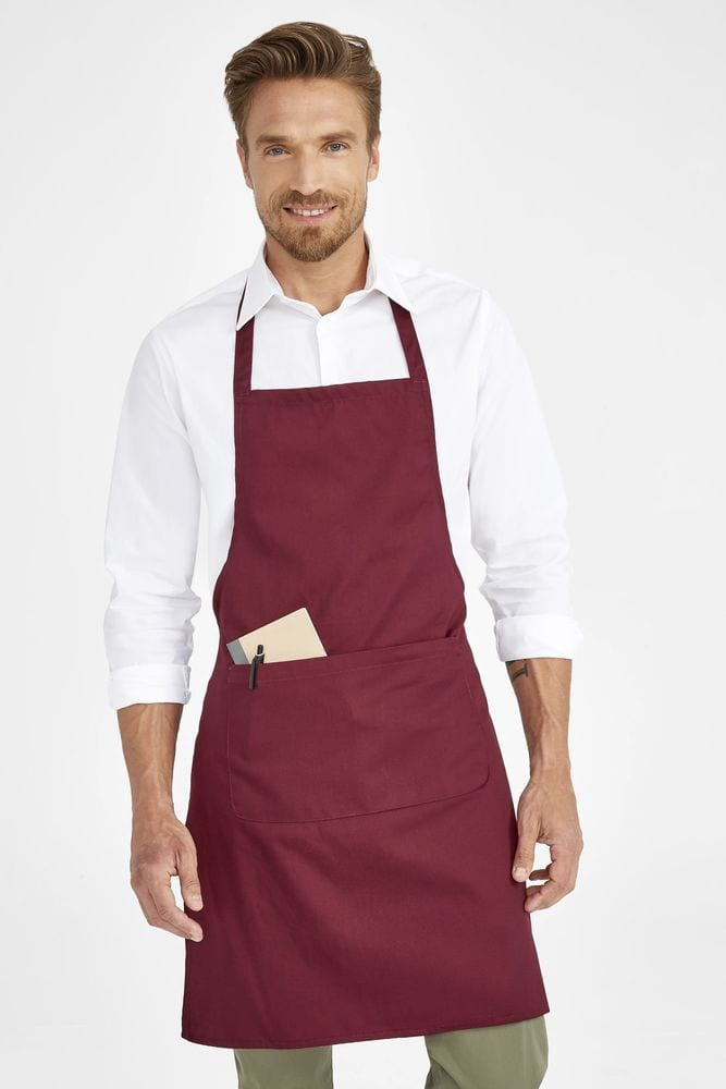 Sol's 01744 - Gramercy Long Apron With Pocket