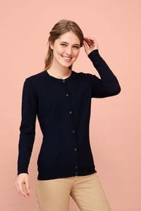 Sols 01716 - Womens Round Neck Cardigan Griffin