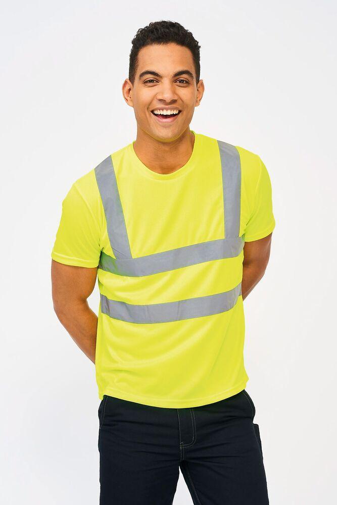 Sol's 01721 - Tee Shirt Bandes Haute Visibilité Mercure Pro