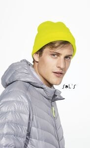 Sols 01664 - Solid Colour Beanie With Cuffed Design Pittsburgh