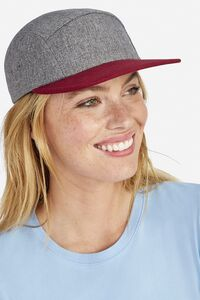 Sols 01662 - 5 Panel Heather Two Colour Cap Ramsey