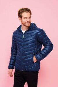 Sols 01620 - Mens Light Hooded Padded Jacket Ray