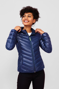 Sols 01621 - Womens Light Hooded Padded Jacket Ray