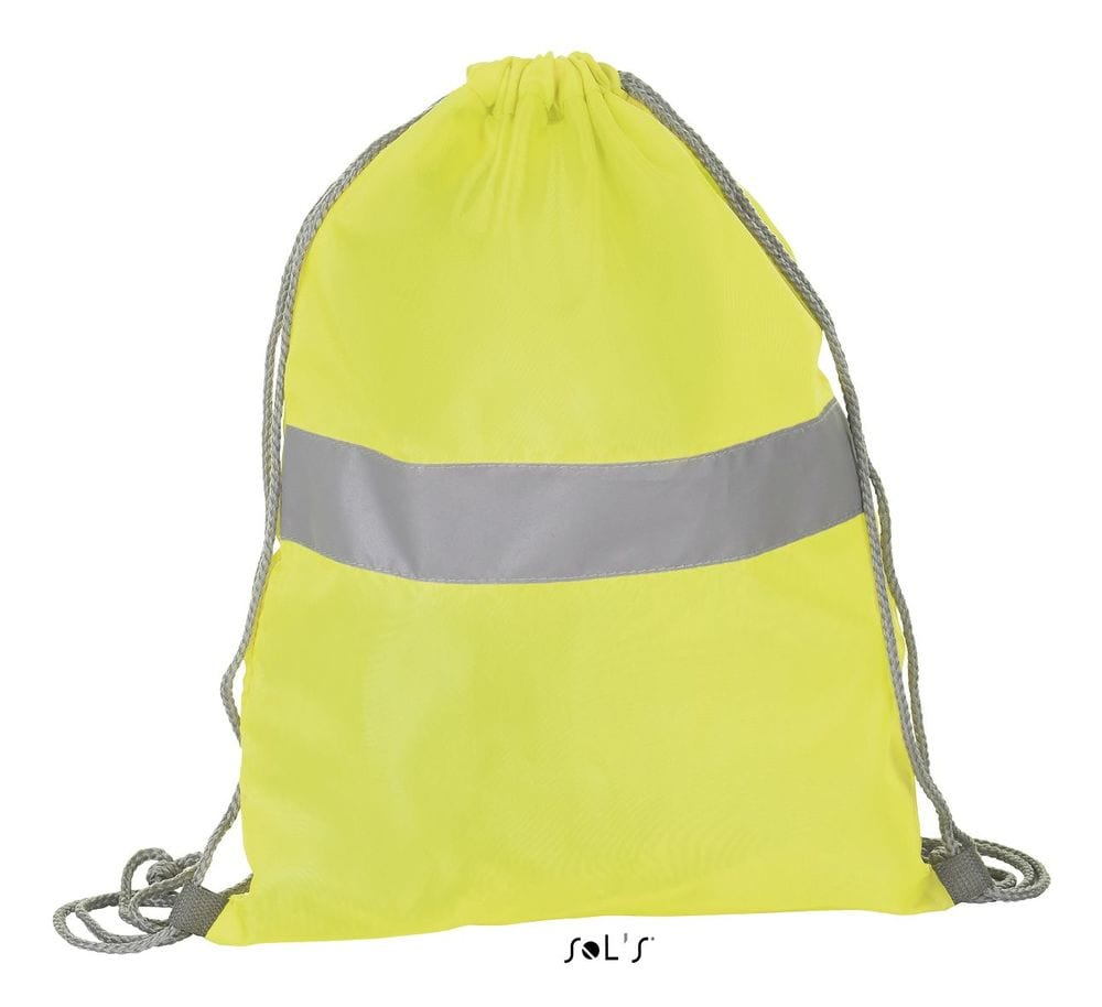 Sol's 01681 - Drawstring Backpack With Reflective Strip Reflect