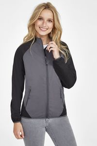 Sols 01625 - Womens Ultra Light Two Colour Softshell Jacket Rollings