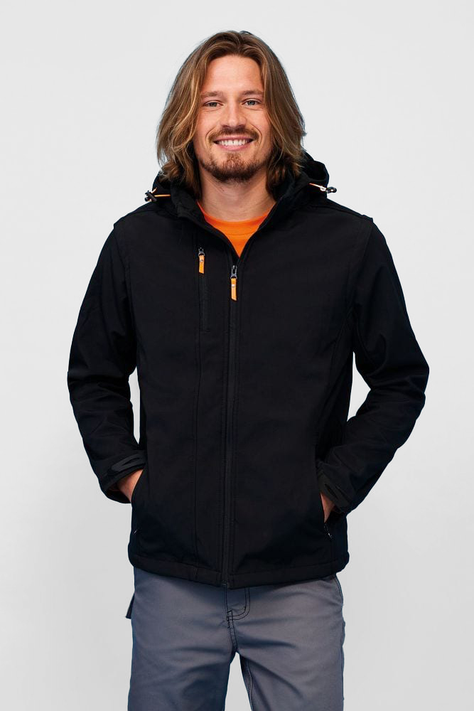 Sol's 01647 - Softshell Jacket Removable Hood and Sleeves Transformer