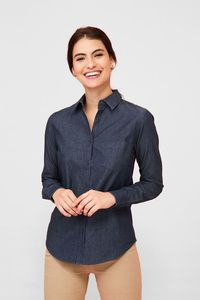 Sols 02101 - Damen Denim Bluse Langarm Barry