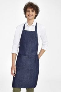 Sols 02104 - Denim Bib Apron With Pocket Grant