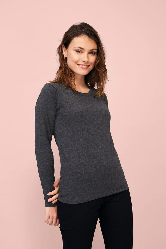Sol's 02075 - Tee Shirt Femme Manches Longues Imperial